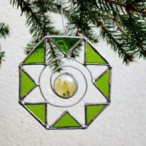 Hanging stained glass small suncatcher