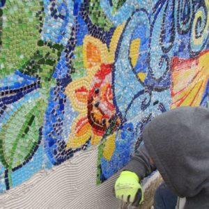 klejenie mozaiki dościany