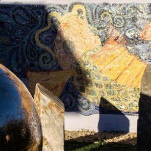 błyszcząca ryba mozaika naścienna
