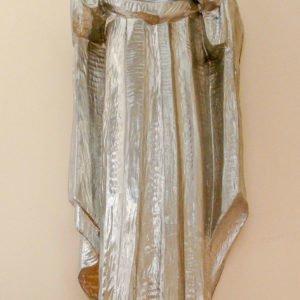 oczyszczona rzeźba zrozpoczętym srebrzeniem